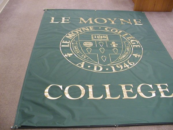 College banners, dorm banners, university banners, custom college banners :: Le Moyne College Banner :: Syracuse, NY