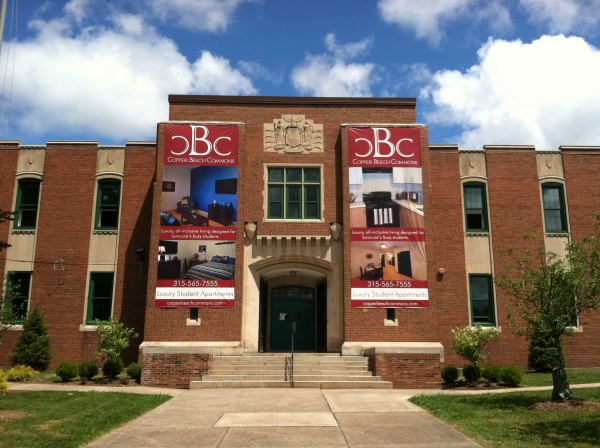 College banners, dorm banners, university banners :: Copper Beech Banners :: Syracuse, NY