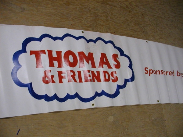 Custom Banners, Digital Print Banners, Graphics Decal Banners :: Thomas and Friends New York State Fair Banner, child banner, custom banner, cartoon banner :: Syracuse, NY