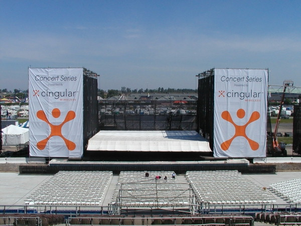 Custom Banner, Digital Banners :: Cingular Banners in The New York State Fair 26ft x 54ft each :: Syracuse, NY