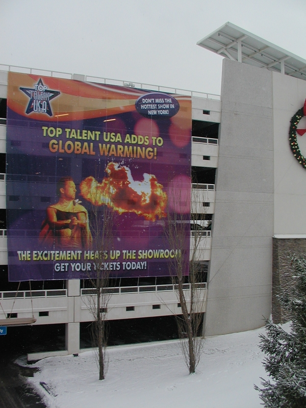Scrim Banner, Digital Banners :: Turning Stone Resort and Casino 40ft x 40ft Banner (4 stories) :: Verona, NY