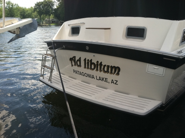 Boat Graphics, Boat Decal :: personalized boat signs, custom boat signs, personal boat signs :: Patagonia Lake, AZ