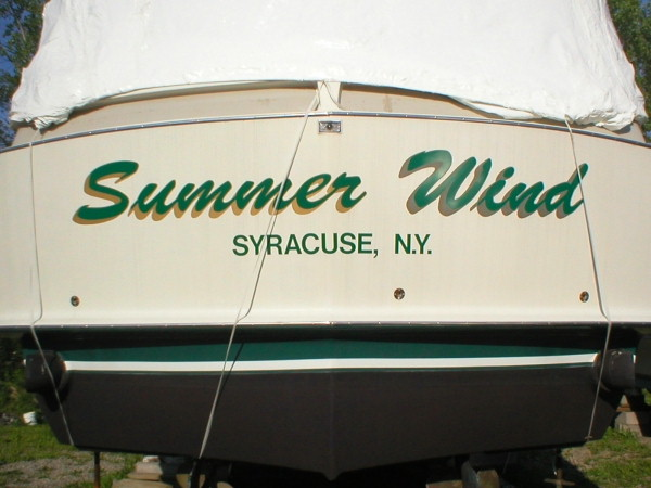 Boat Graphics, Boat Decal :: boat signs :: Syracuse, NY