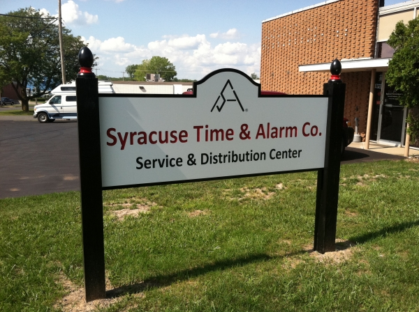 Syracuse Time & Alarm Co. :: Carved and Painted signage :: Syracuse, NY