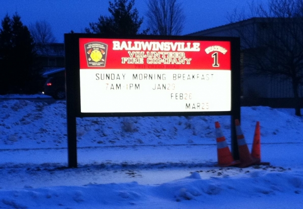 Fire Department signs, illuminated fire department signs, light fire department signs :: Baldwinsville Fire Department :: Baldwinsville, NY