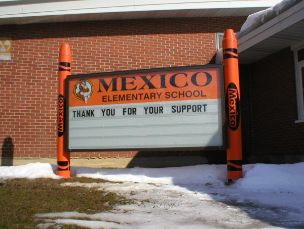 Illuminated school signs, custom school signs, school light signs :: School Signage :: Mexico, NY