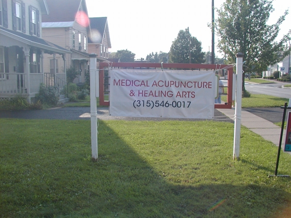 Medical Acupuncture & Healing Arts :: temporary signage :: Syracuse, NY