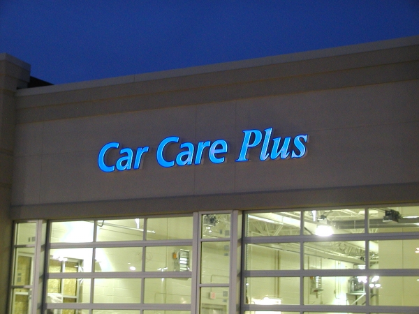 Illuminated Channel Letters, Syracuse NY, Custom signs, Syracuse NY,  :: Car Care Plus - Illuminated Channel Letters - Syracuse, NY :: Syracuse NY, Central NY, Upstate NY