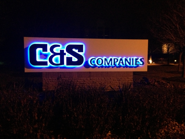 LED signs, monument signs, lit signs :: C&S Companies - LED Illuminated back lit custom sign :: Syracuse NY, Central NY, Upstate NY