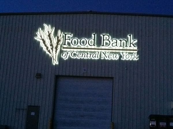 LED Illuminated Signs, Syracuse NY, Custom signs, Syracuse NY, :: Food Bank of Central New York - LED Illuminated sign :: Syracuse NY, Central NY, Upstate NY